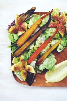 Honey Roasted Carrot, Endive & Fig Summer Salad ||| Brewing Happiness