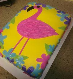 Flamingo Sheet Cake