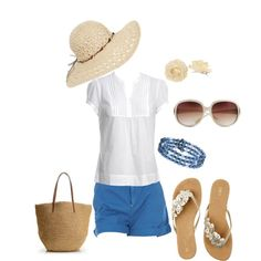 I usually pair a white shirt with jeans. Now I need to look for a cute pair of blue shorts, so cute!