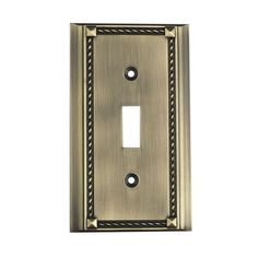 Clickplates Single Switch Plate In Antique Brass.