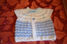 Hand Knitted Baby Vest Baby girl sweater Baby by neslyhandmade