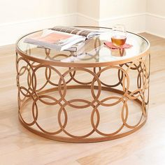 Rachael Ray Home by Legacy Classic Furniture Desk/Sofa Table Art Deco Furniture, Metal Furniture, Table Furniture, Round Glass Coffee Table, Coffe Table, Metal Side Table, Wood Table, Coffee Table For Small Living Room, Small Lamps
