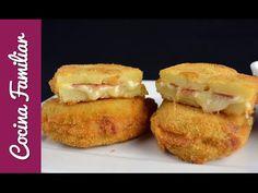 Sándwich de patata con jamón y queso | Cocina