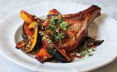 Pork Chops and Squash with Pumpkin Seed Vinaigrette / Chris Morocco. This was amazing!