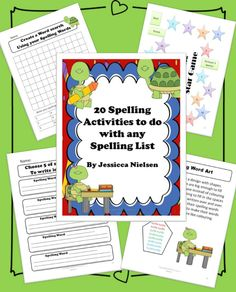$ This package includes 20 different games, activities, worksheets, and task cards to help your students practice their spelling words in a variety of different ways. There is something here that will meet the learning needs and multiple intelligences of every student in your classroom.