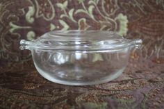 Vintage Pyrex Small Casserole Dishes w/Lid/20 oz Casserole Dish/Clear Glass…
