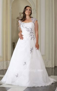 6478b42a A-Line Floor-Length Queen Anne Satin Sweep Train Side Draping Dress.  Drapering, Brude