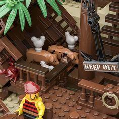 LEGO IDEAS - - The Pirate Bay Pirate Lego, Lego Ship, Tiki Lounge, Treasure Maps, Small Farm, Lego City, Legos, Pirates, Lego Ideas