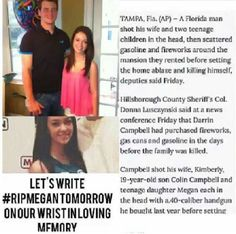 It really hurts to know that there are people out there in the world like that... she and her family didn't deserve this...no one should ever deserve any of this... #RipMegan