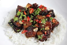 Ellan reseptit: Farangin karkkipossu Fish And Chicken, Kung Pao Chicken, Fish Recipes, Meat Recipes, Beef, Dishes, Ethnic Recipes, Food, Meat