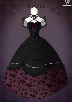 Dark Wedding Dress by *Neko-Vi on deviantART