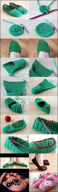 Make It: Crochet Slippers - Free Pattern & Tutorial #crochet