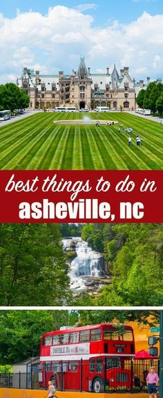 Hints on the best places to stay and must-see things to do in Asheville NC. From waterfalls to downtown shops to historical homes, this is an ideal family vacation experience. Things to Do in Asheville NC {An Ideal Family Vacation Destination} Best Family Vacations, Family Vacation Destinations, Family Travel, Travel Destinations, Vacation Ideas, Vacation Movie, Cruise Vacation, Disney Cruise, Vacation Spots