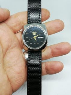 Your place to buy and sell all things handmade Seiko 5 Watches, Handmade Jewelry, Handmade Items, Drops Patterns, Seiko 5 Automatic, Damascus Steel, Watch Sale, Vintage Japanese, 1980s