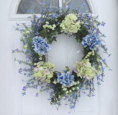 Wreaths For Door - Spring Fever Violet Berry and Hydrangea Door Wreath For Everyday, $99.99 (http://www.wreathsfordoor.com/spring-fever-violet-berry-and-hydrangea-door-wreath-for-everyday/)