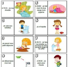 Routine enfant - matin Additionally, I am your well known standard knowledge educator exactly who French Teacher, Teaching French, Autism Education, French Classroom, French Lessons, Learn French, Kids And Parenting, Teaching Kids, Montessori