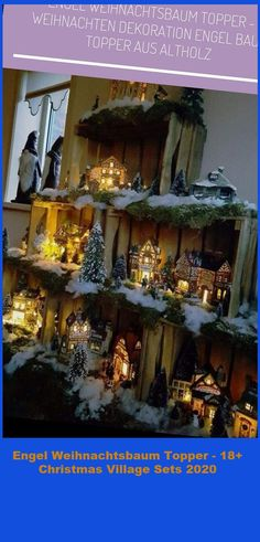 Holiday Wood Projects Rustic christmas village sets Engel Weihnachtsbaum Topper - 18+ Christmas Village Sets 2020 Rustic Christmas, Christmas Diy, Christmas Village Display, Homemade Christmas Decorations, Wood Projects, Display Ideas, Tight Budget, Holiday Decorating, Simple