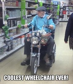 @George Karabelas Keel If you ever need a wheelchair in your old age I'll make sure it's an awesome one like this!