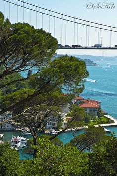 Bosphorus, Istanbul, Turkey~ divides Istanbul in two...half in Europe & half in Asia....COOL! I LOVED going to Asia via Istanbul