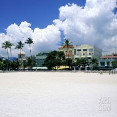 Ocean Drive, South Miam Beach, Miami - Florida Photographic Print by Hisham Ibrahim at Art.co.uk