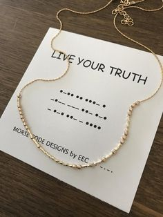 LiVE YOUR TRUTH Morse Code Necklace Inspirational Jewelry Secret Message Secret Code Sister Set Cousins Sister in Law Gift Religious - Jewelry diy bracelets Cousins, Morse Code Tattoo, Morse Code Words, Sister In Law Gifts, Live Your Truth, Morse Code Bracelet, Youre My Person, Secret Code, Positive Messages