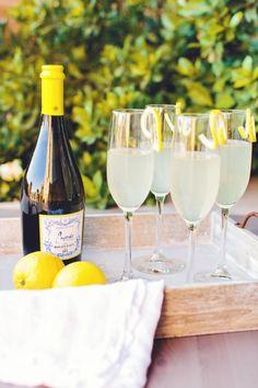Cupcake Vineyards Moscato d'Asti Lemon Cocktail :: Beautiful Brunch styled by The TomKat Studio for Cupcake Vineyards http://www.thetomkatstudio.com/cupcakevineyardswinebrunch/