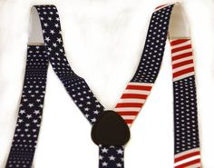 9386124e8 United States of America Flag Red White Blue Suspender. One Size. United  States of