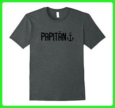Mens Captain Papa | Dad & Grandpa Father's Day Gifts & T-Shirts Medium Dark Heather - Holiday and seasonal shirts (*Amazon Partner-Link)