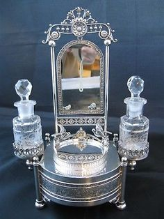 C1890-Victorian-Silverplate-Perfume-Jewelry-Casket-Ornate-Figural-James-Tufts