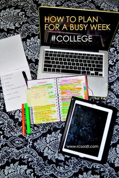 Real College Student of Atlanta: How to plan for a busy week {college students} These are all really good tips. college student tips My College, College Years, College Snacks, College Girls, Sierra College, Union College, Georgia College, College Books, College Success