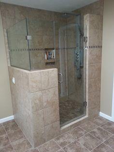 glass block showerwalk in shower ideasin showers without