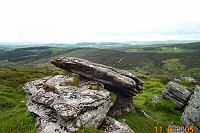 Birch Tor is easy to get to and worth it for the good views over central Dartmoor. Just below the tor are the remains of Dartmoor's last tin mines.
