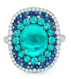 Paraiba Cabochon Ring ~ Martin Katz