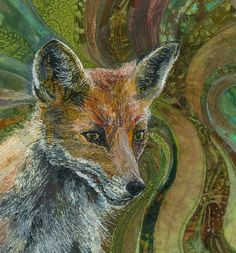 'Fantastic Mr Fox' - wonderful textile art by Rachel Wright. Wildlife Quilts, Landscape Art Quilts, Fantastic Mr Fox, Fabric Animals, Animal Quilts, Thread Painting, Fox Art, Embroidery Art, Machine Embroidery