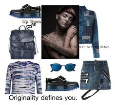 """Up Town style-Jeans Jacket"" by zabead ❤ liked on Polyvore featuring Proenza Schouler, Jil Sander, Dsquared2, Ettore Bugatti, Diesel, RetroSuperFuture, jeanjackets and polyvorecontest"