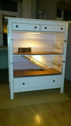If i get a hedgehog, I'd like to make a cool cage with repurposed cabinet space