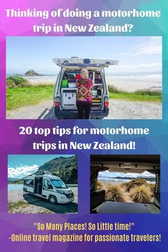 20 Top Tips for motorhome trips in New Zealand