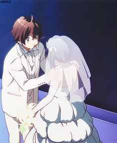 Togashi Yuuta and Takanashi Rikka at their wedding (◕‿◕✿)