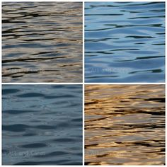 Water Photography Set Ocean Decor Abstract by EchidnaArtandCards