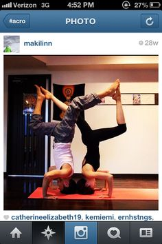 ACRO doubles handstand