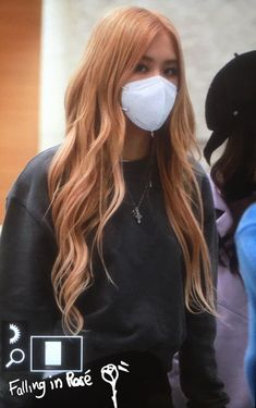 Kpop Girl Groups, Kpop Girls, Rose Icon, Mask Girl, Blackpink Photos, Rose Park, Kpop Fashion Outfits, Jennie, Black Hair