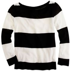 Rugby-Stripe Boatneck Top ($35) ❤ liked on Polyvore featuring tops, sweaters, shirts, long sleeves, side slit shirt, loose long sleeve shirts, boat neck shirt, side slit sweater and boat neck sweater