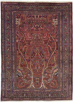x Red Birjand Persian Rugs Persian Carpet, Persian Rug, Rugs On Carpet, Carpets, Iranian Rugs, Moroccan, Luxury, Antiques, Red