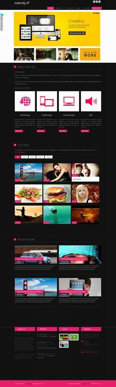 Metrofy Wordpress Theme in Metro Style  #wordpress #theme #website #template #responsive #design #webdesign #flat #flatdesign #metro #modern #style
