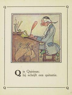 Quirinus: A dat is Aafje / door Bas van der Veer ; [illustraties van de schrijver]. - Amsterdam : H. Meulenhof, 1918. Aanvraagnummer: BJ 26839.