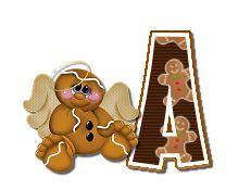 Alfabeto de angelitos de galletas de jengibre.   Oh my Alfabetos!