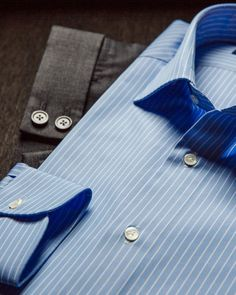 """a20ec3f348 Kamakura Shirts Global on Instagram: """"Simple yet sophisticated - this light  blue and white striped spread collar shirt makes the perfect business  associate ..."""