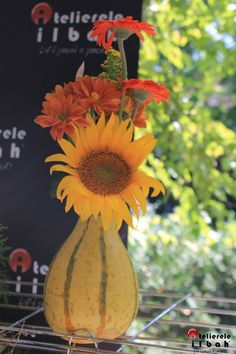We try to make everything look beautiful. From Atelierele ILBAH! Flower Designs, Pumpkin, Vegetables, Flowers, How To Make, Beautiful, Food, Flower Drawings, Buttercup Squash