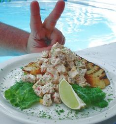 Roast Chicken Salad on Hot Chilli Bread relaxing by the pool.