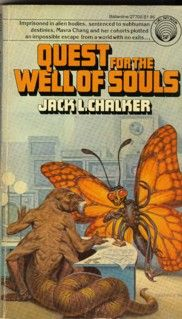 Publication: Quest for the Well of Souls Authors: Jack L. Chalker Year: 1978-11-00 ISBN: 0-345-27702-3 [978-0-345-27702-2] Publisher: Del Rey / Ballantine  Cover: Darrell Sweet